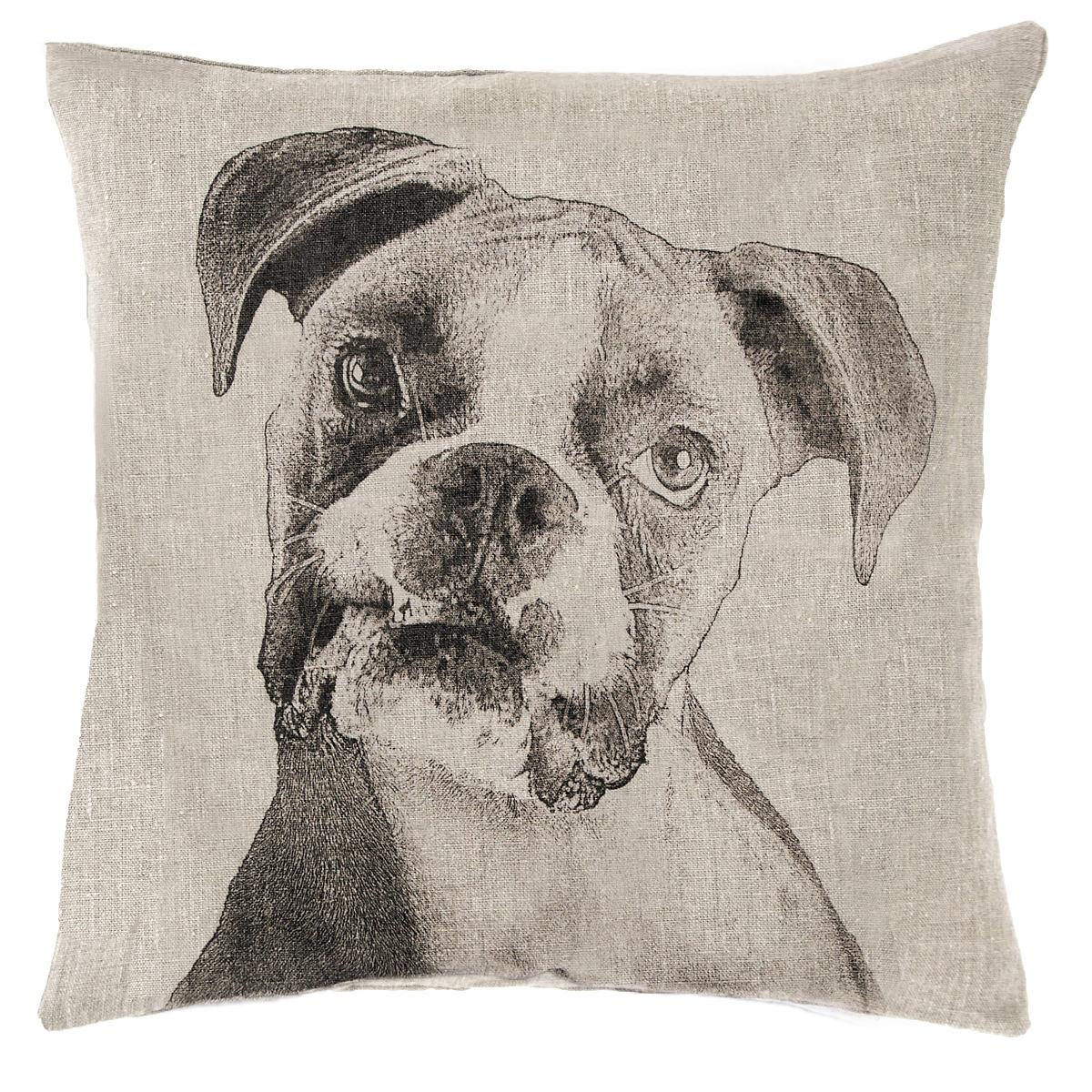 Boxer Natural Decorative Pillow