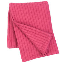 Boyfriend Fuchsia Matelassé Throw