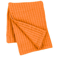 Boyfriend Orange Matelassé Throw