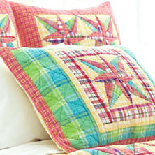 Bright Patchwork Quilted Sham
