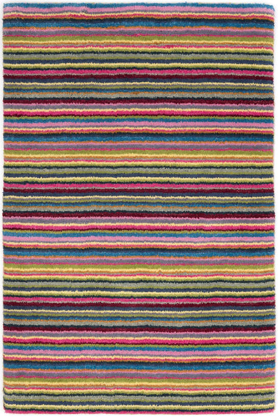 Brindle Stripe Carnival Hand Knotted Rug