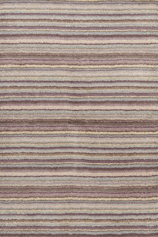 Brindle Stripe Dusty Plum Hand Knotted Rug