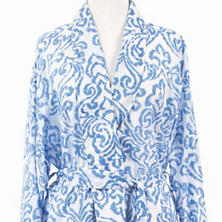 Brushstroke Damask French Blue Robe