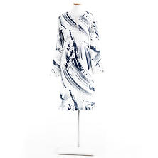 Brushstroke White/Indigo Tunic