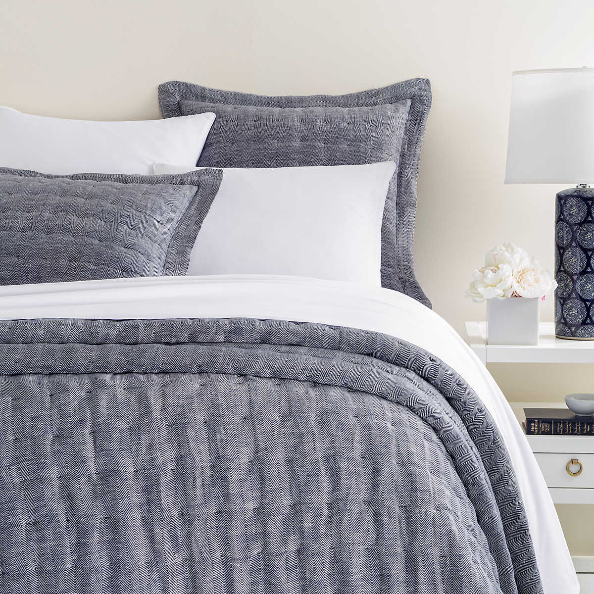 Indigo Bed Linen Part - 48: Annie Selke