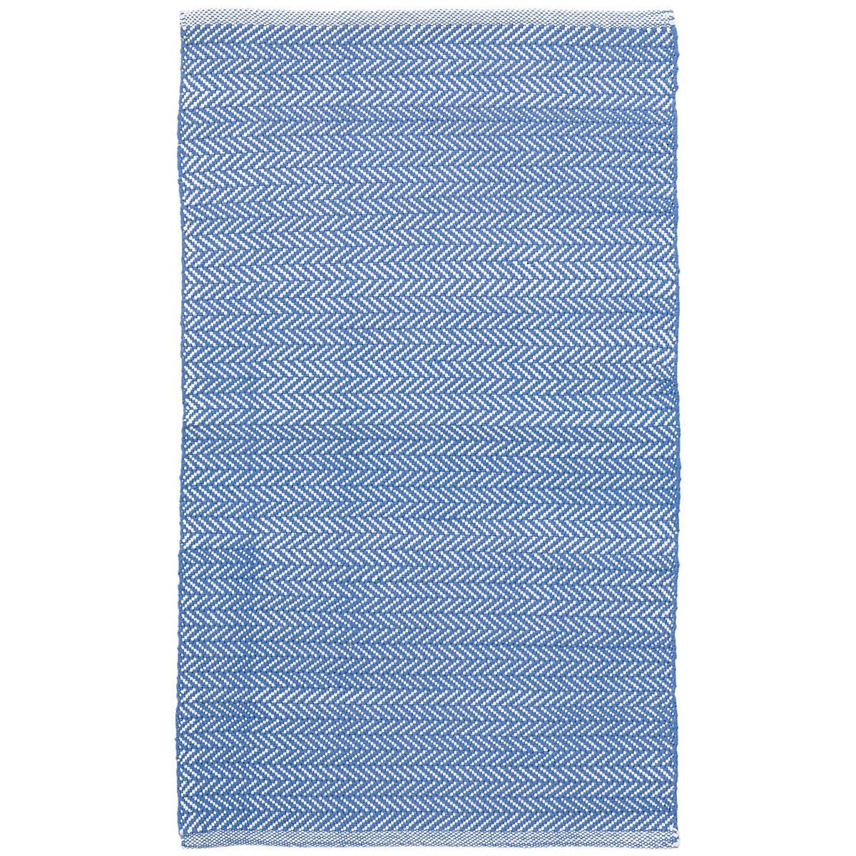 C3 Herringbone French Blue Indoor Outdoor Rug