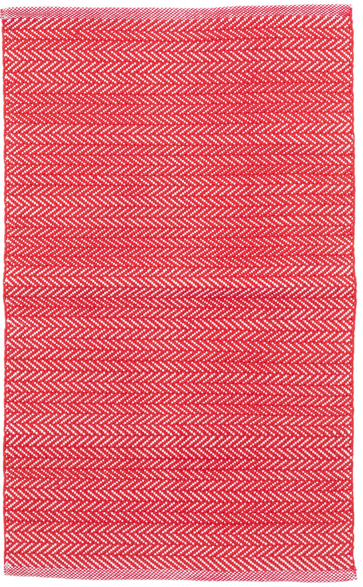 C3 Herringbone Red Indoor/Outdoor Rug