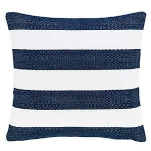 Catamaran Navy/White Indoor/Outdoor Decorative Pillow