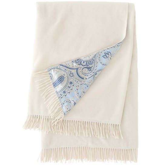 Cachemire Delphinium Throw