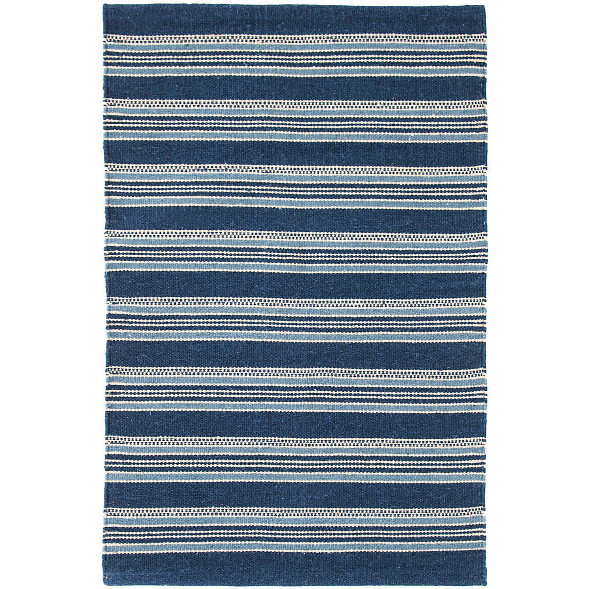 Blue Heron Stripe Indoor/Outdoor Rug | Dash & Albert