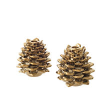 Pinecone Candle Holder/Set Of 2