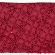 Candlewick Crimson Bed Skirt