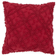 Candlewick Crimson Decorative Pillows
