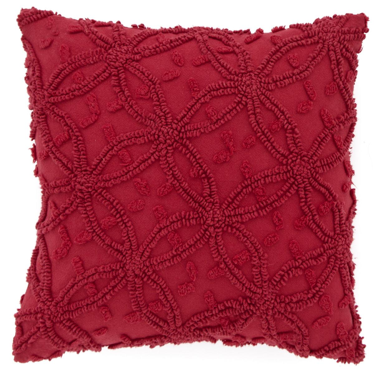 Candlewick Crimson Decorative Pillows