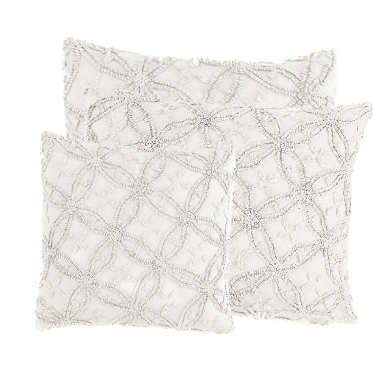 Candlewick Dove Grey Decorative Pillows