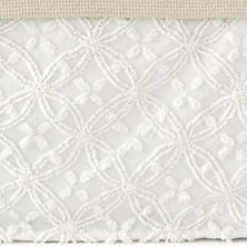 Candlewick Dove White Bed Skirt