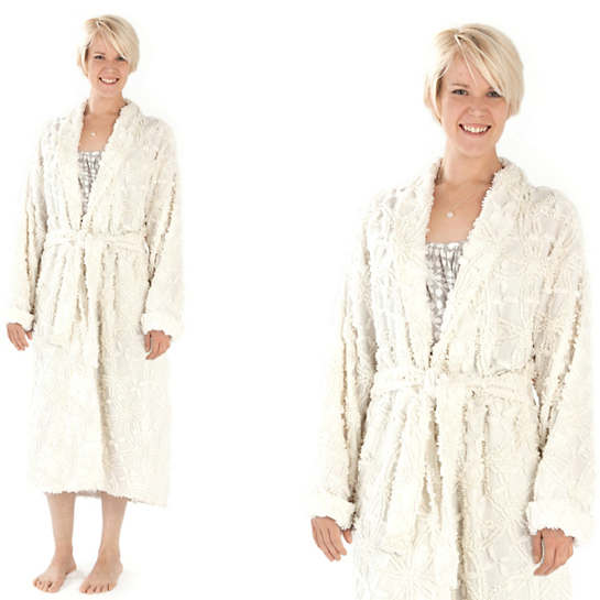 Candlewick Dove White Robe