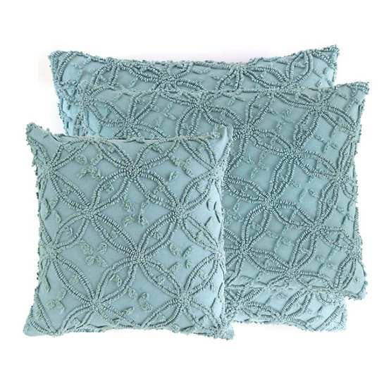 Candlewick Mineral Decorative Pillows