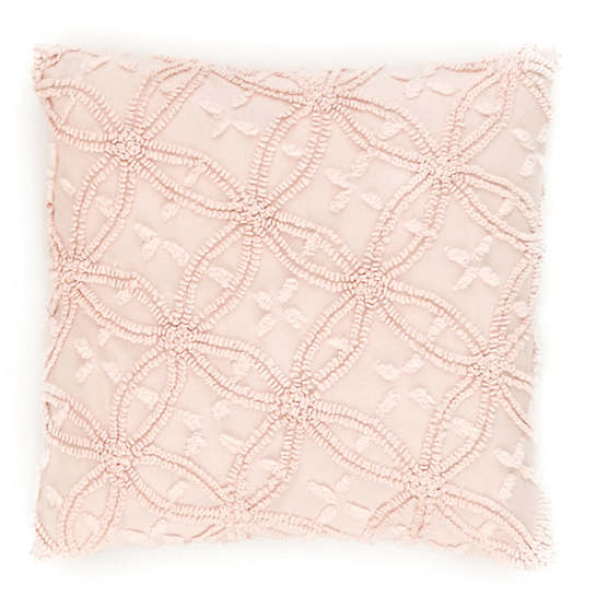 Candlewick Pale Rose Decorative Pillows