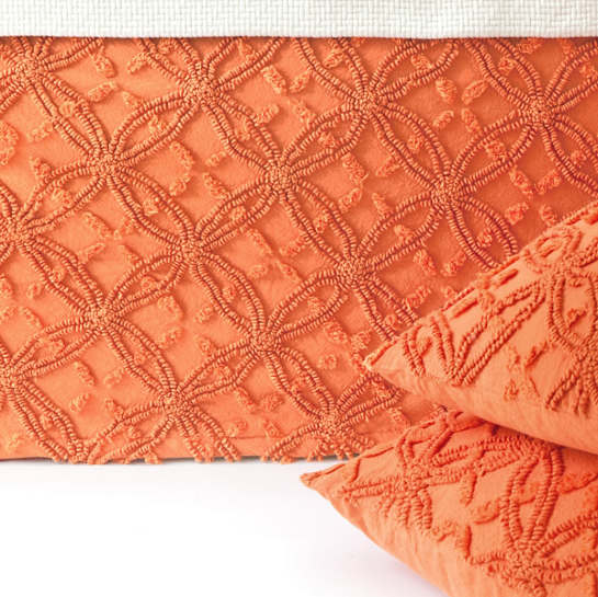 Candlewick Paprika Bed Skirt