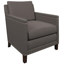 Canvasuede Charcoal Ridgefield Chair