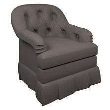 Canvasuede Charcoal Norfolk Skirted Chair