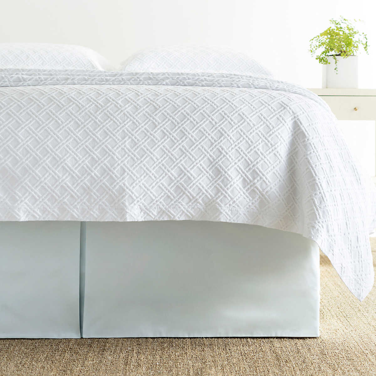 pearl blue bedskirt luxe