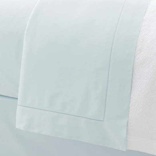 Carina Pearl Blue Fitted Sheet