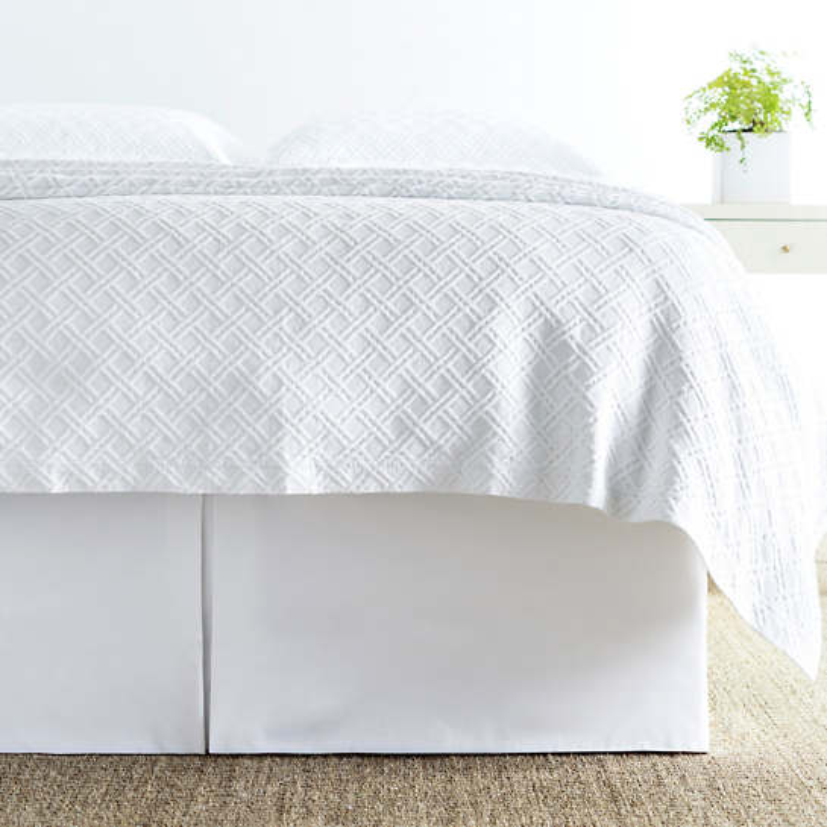 Carina White Bedskirt