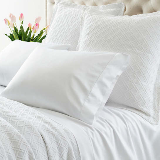 Carina White Fitted Sheet