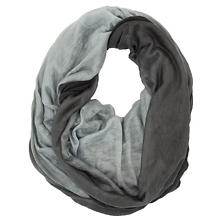 Cashmere/Silk Two-Tone Charcoal Tube Scarf