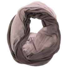 Cashmere/Silk Two-Tone Plum Tube Scarf