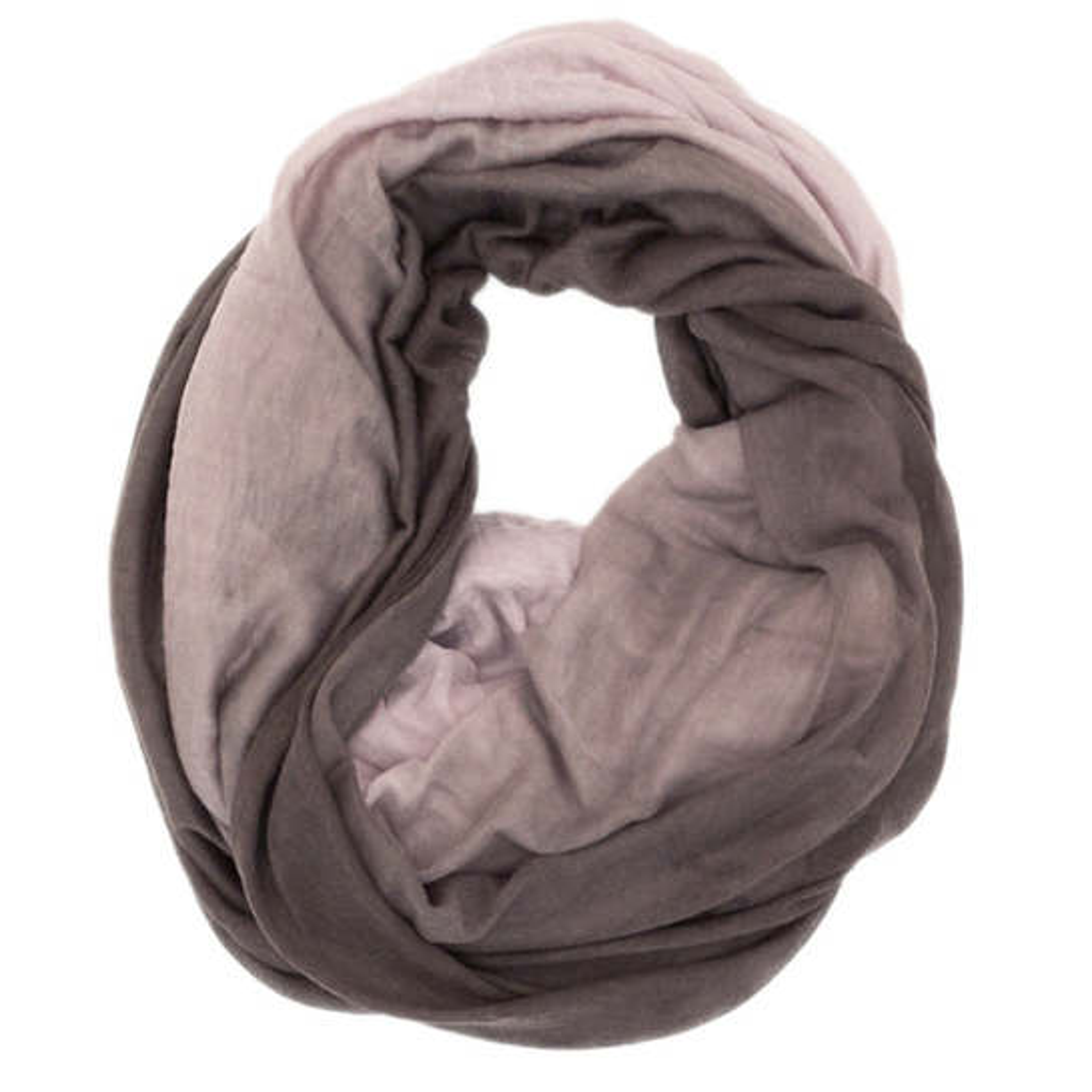 Cashmere/Silk Two-Tone Plum Tube Scarf
