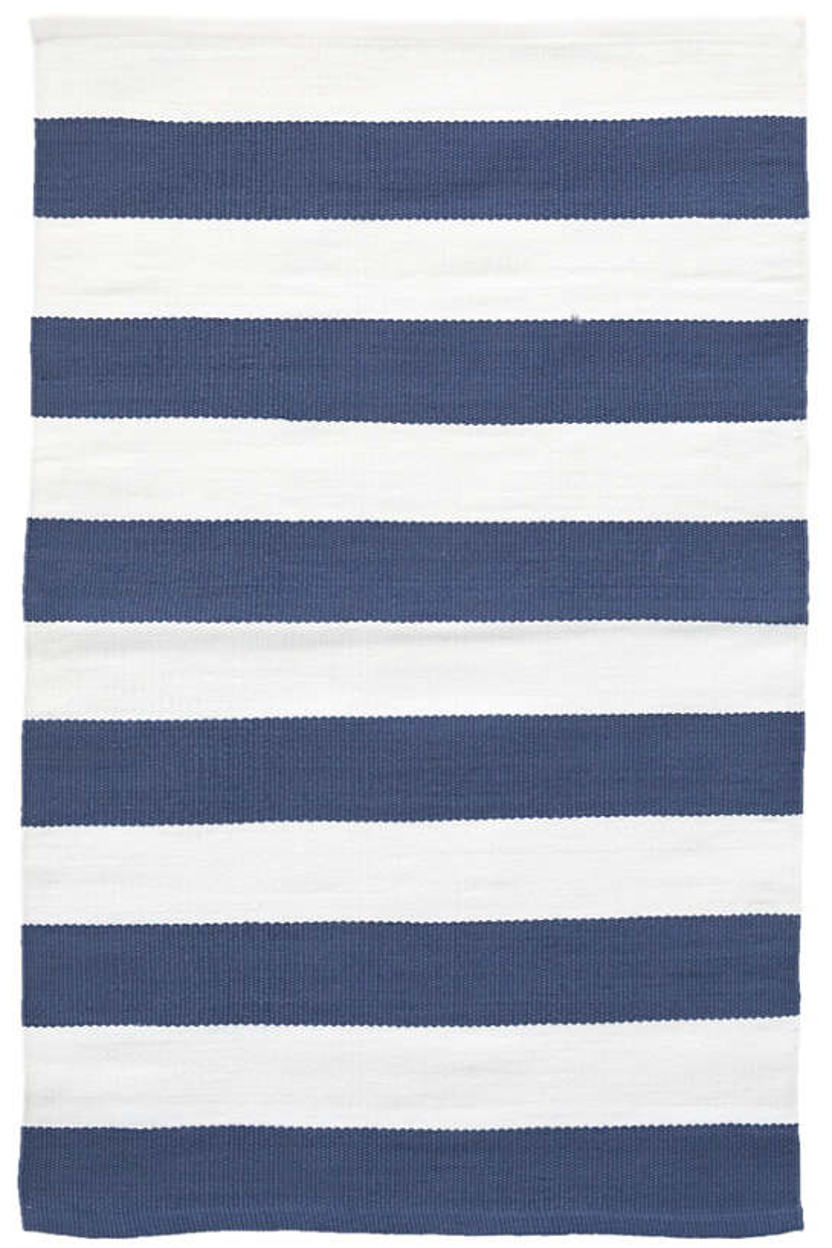 Catamaran Stripe Denim/White Indoor/Outdoor Rug