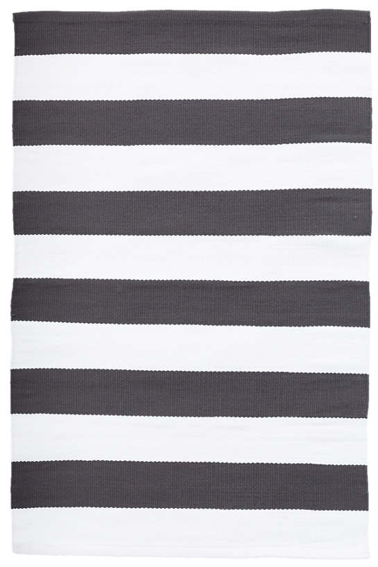 Catamaran Stripe Graphite/White Indoor/Outdoor Rug