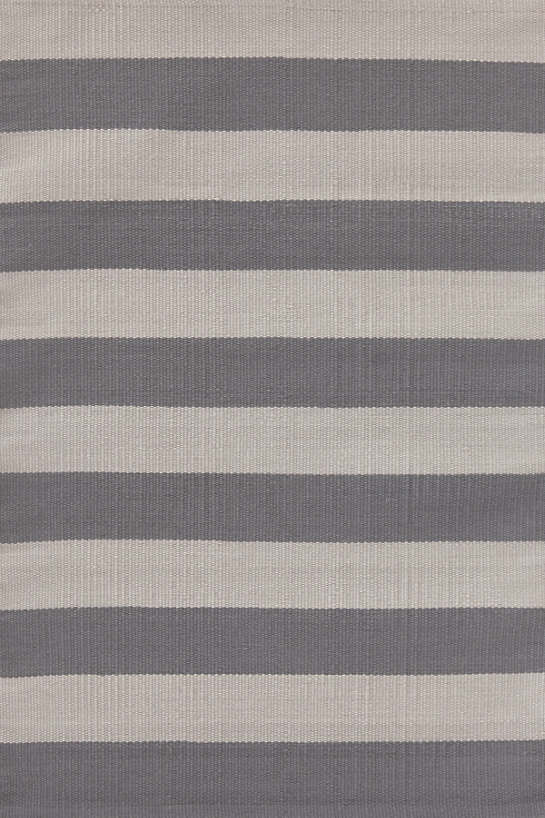 Catamaran Stripe Graphite/Fieldstone Indoor/Outdoor Rug