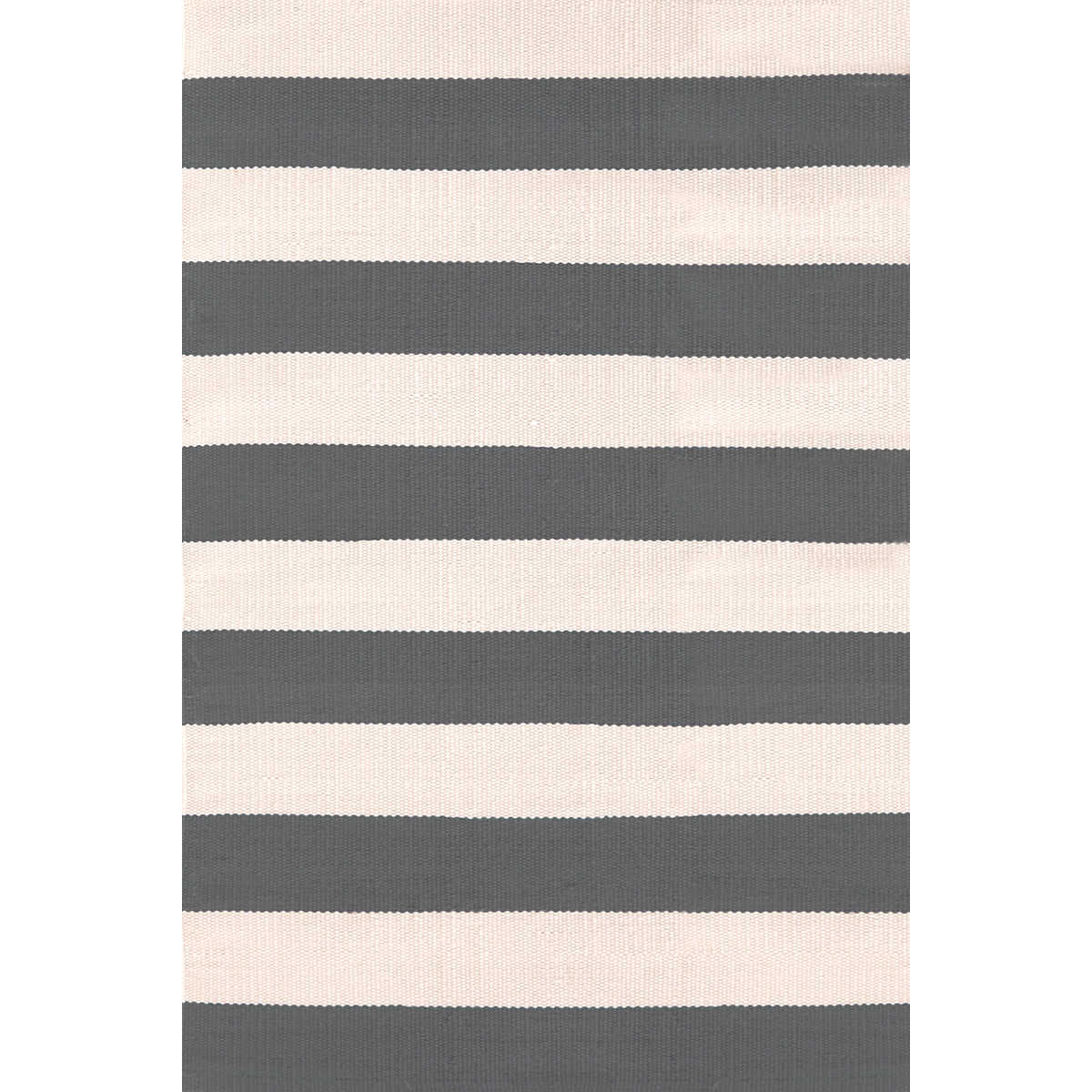 Catamaran Stripe GraphiteIvory IndoorOutdoor Rug  Dash
