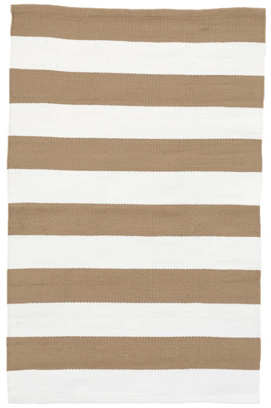 Catamaran Stripe Khaki/White Indoor/Outdoor Rug