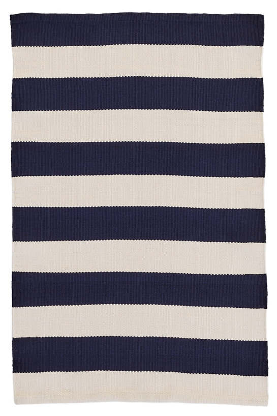 Catamaran Stripe Navy/Ivory Indoor/Outdoor Rug