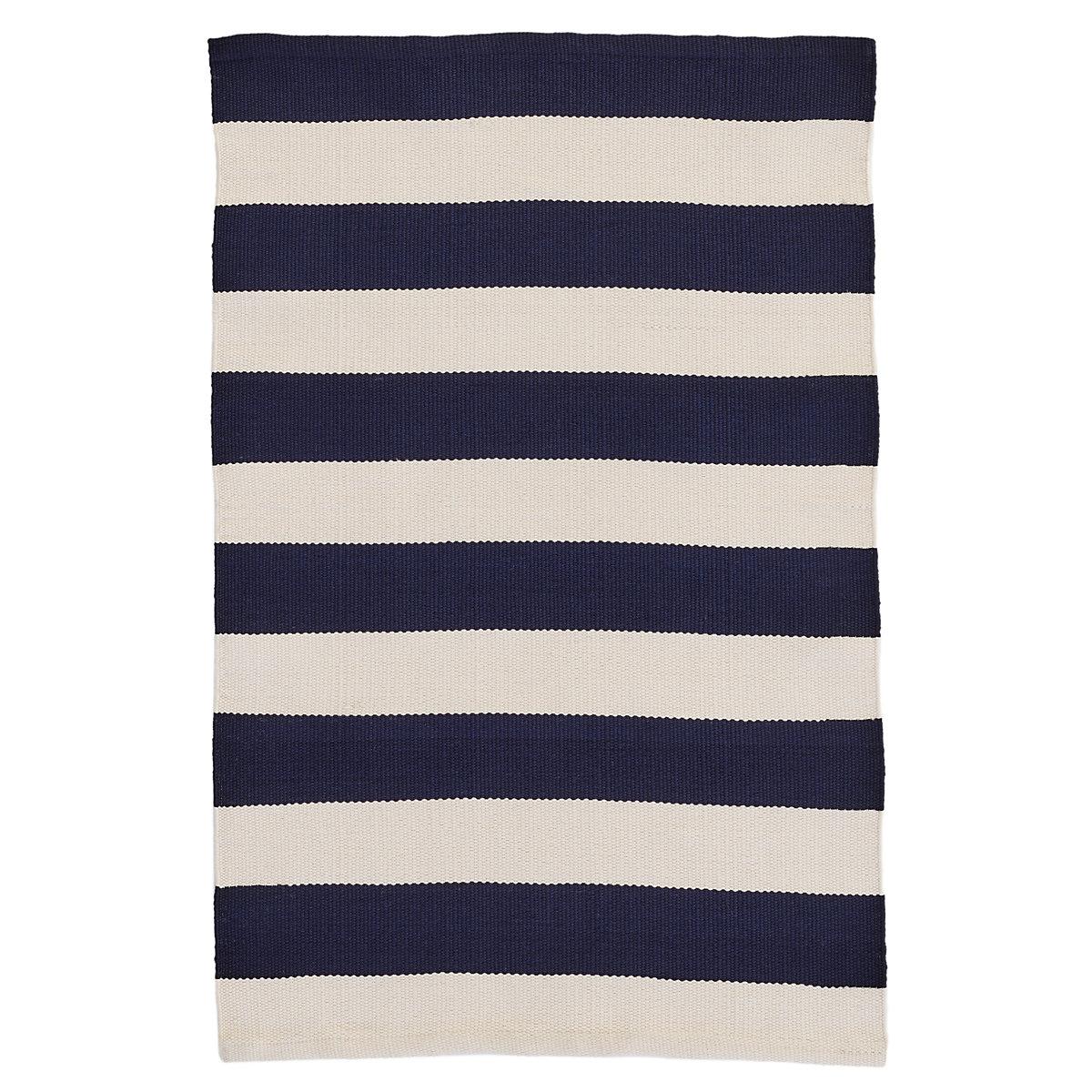 catamaran stripe navyivory indooroutdoor rug  dash  albert -