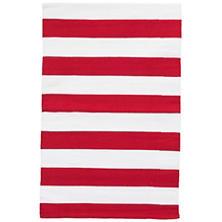 Catamaran Stripe Red/White Indoor/Outdoor Rug