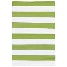 Catamaran Stripe Sprout/White Indoor/Outdoor Rug
