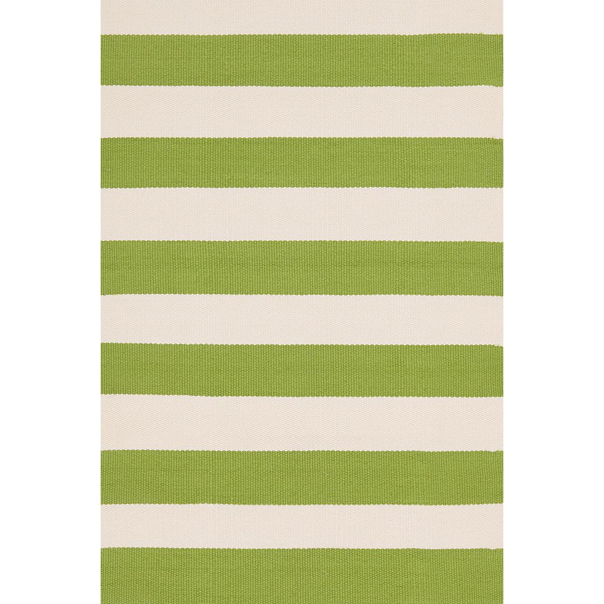 Catamaran Stripe Sprout/Ivory Indoor/Outdoor Rug | Dash & Albert