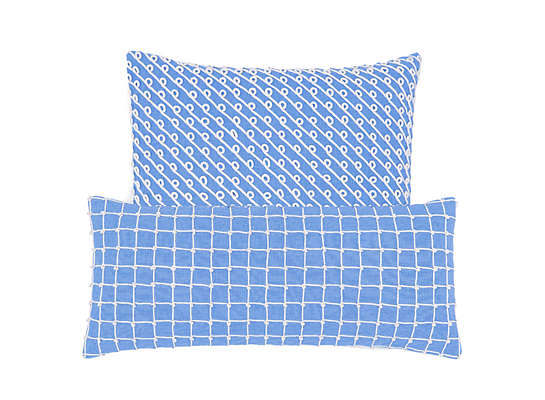 Chadna French Blue Decorative Pillow