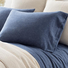 Chambray Flannel Blue Pillowcases