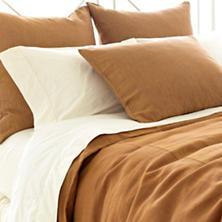 Chambray Linen Terracotta Duvet Cover
