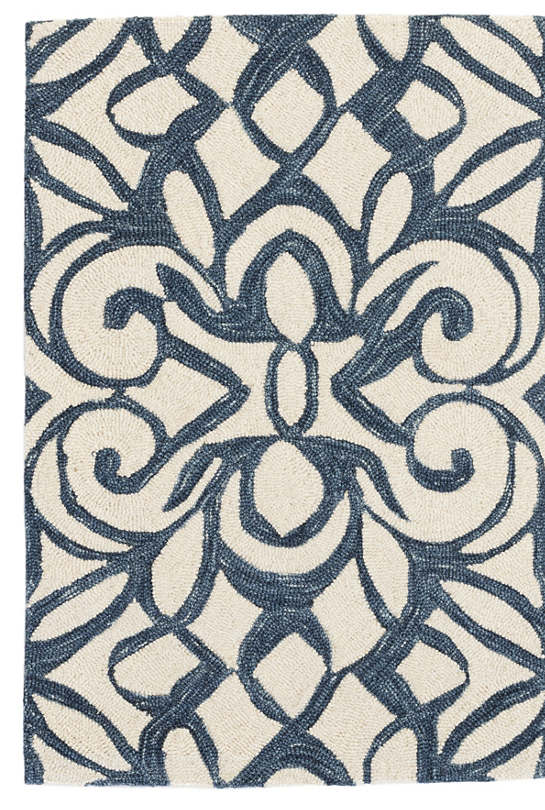 Chandelier Ink Wool Micro Hooked Rug