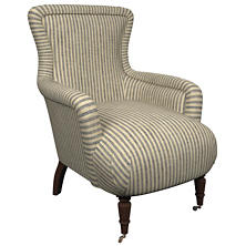 Adams Ticking Navy Charleston Chair