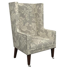 Charlotte Linen Neo-Wing Chair