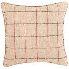 Chatham Tattersall Brick/Brown Indoor/Outdoor Decorative Pillow